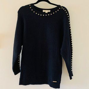 NWOT Michael Kors black studded sweater